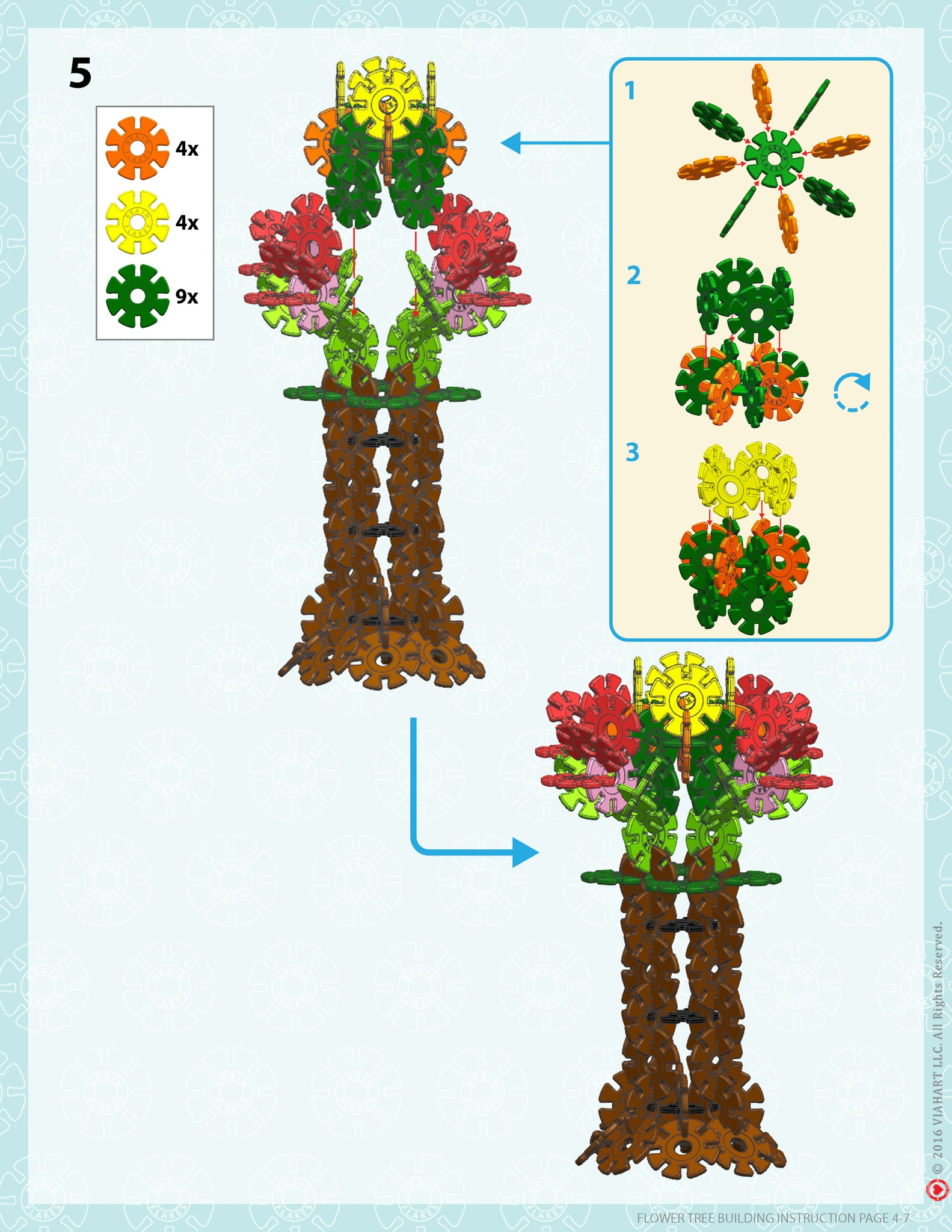 Brain Flakes Tree building instructions 4