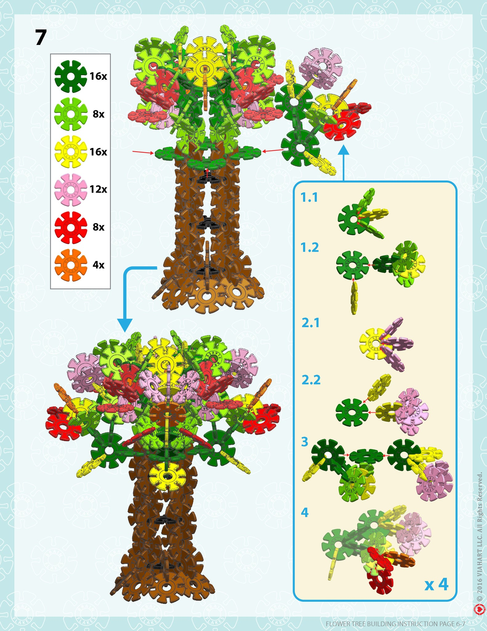 Brain Flakes Tree building instructions 6