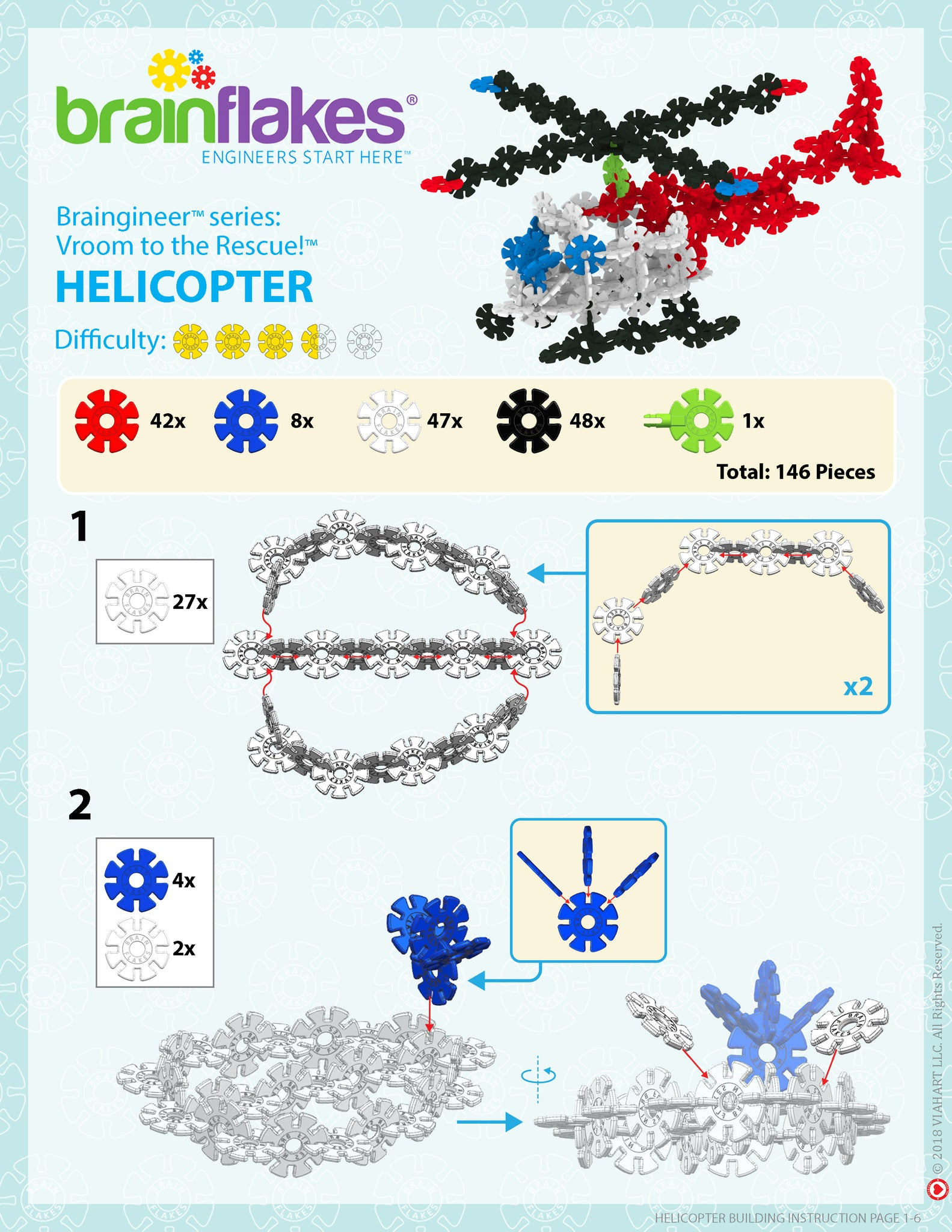Brain Flakes Helicopter building instructions 1