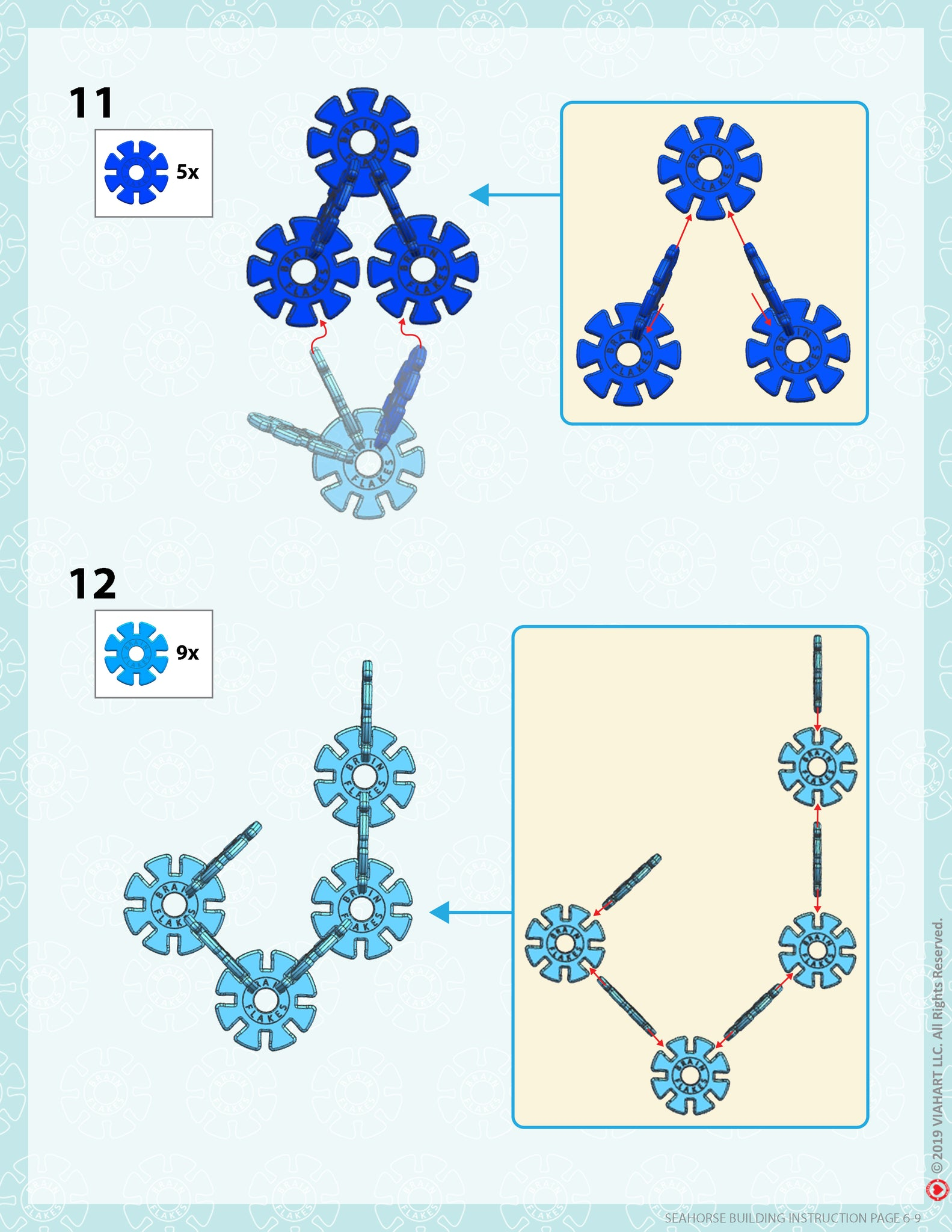Brain Flakes Seahorse building instructions 6