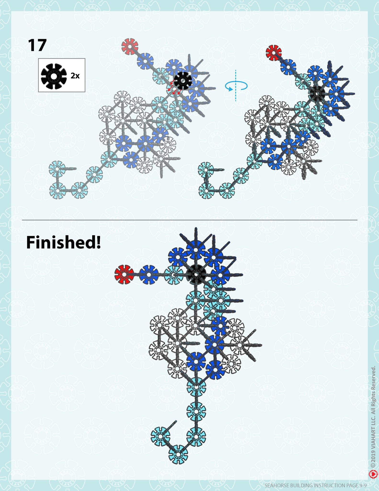 Brain Flakes Seahorse building instructions 9