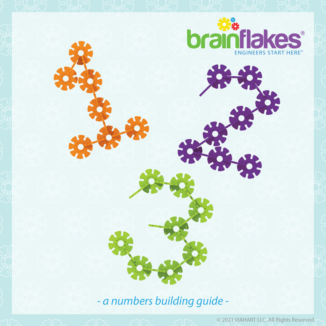 Brain Flakes® Numbers Bilingual Building Task Cards | FREE