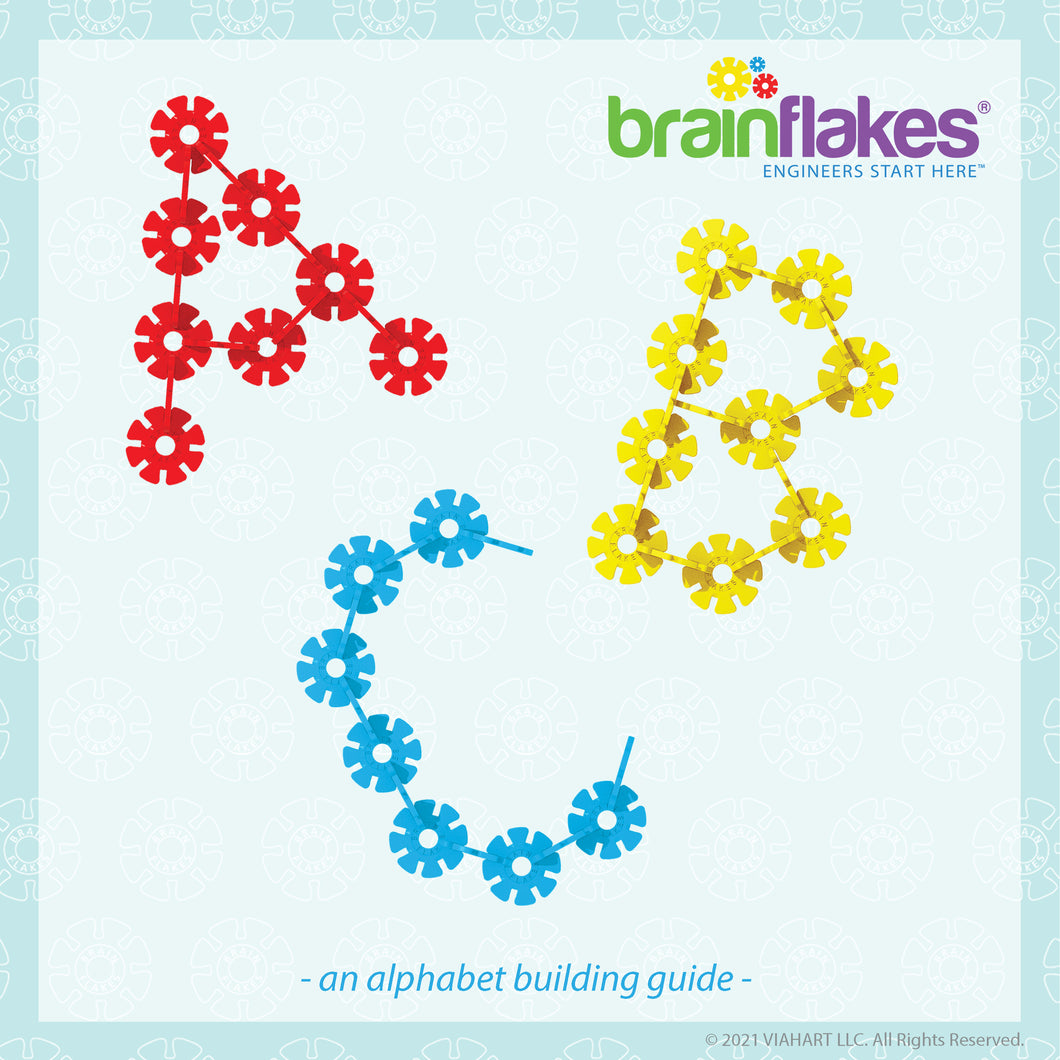 Brain Flakes® Alphabet Building Task Cards | Building Guide