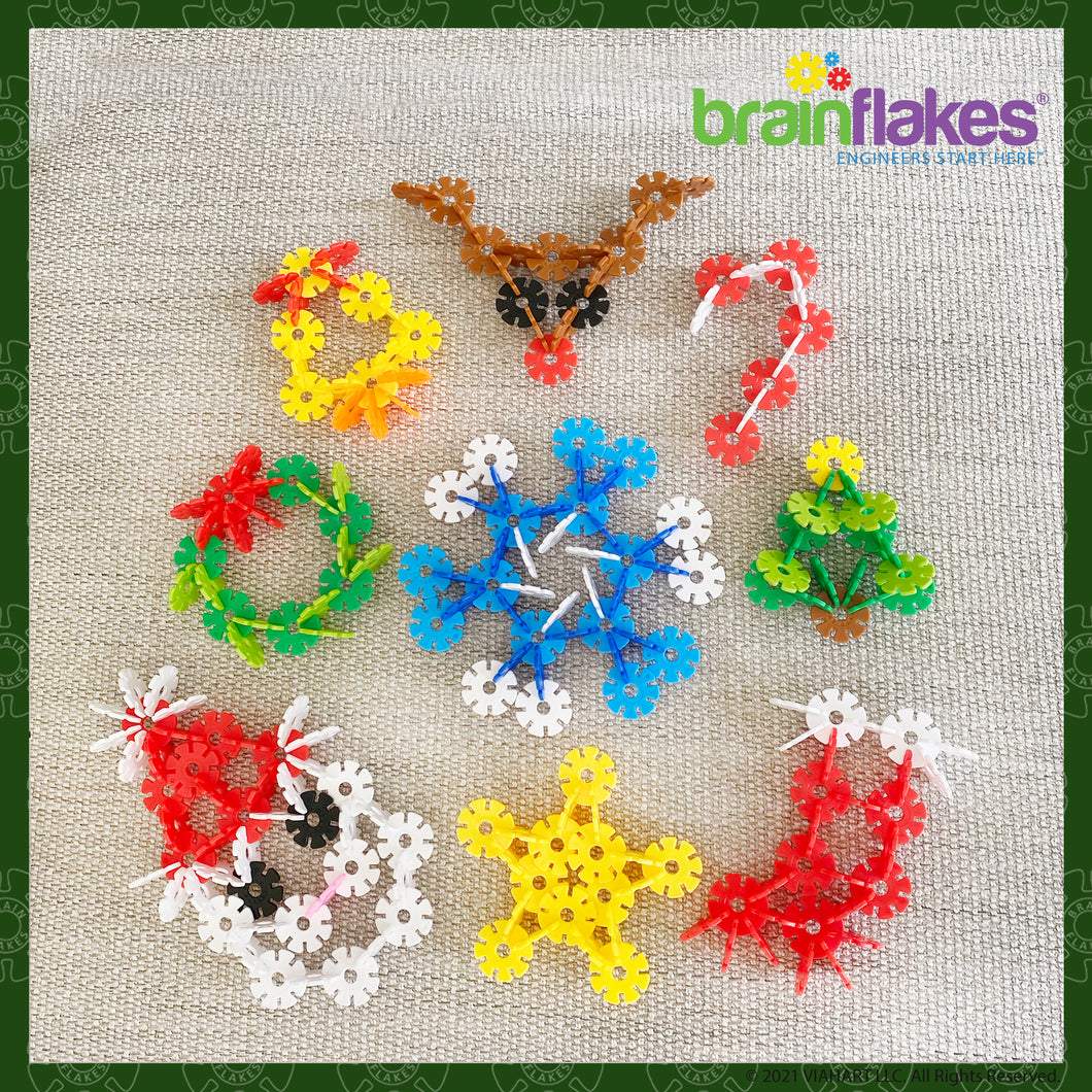 Brain Flakes® Holiday Ornaments Building Guide | FREE
