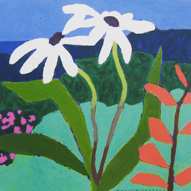Sophie Harding Wildflowers, acrylic on board, 2020 The Byre Gallery