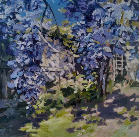 Jill Hudson Wisteria and the Lilac Tree The Byre Gallery