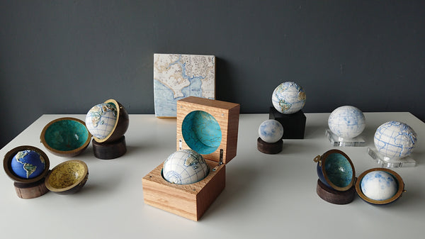 The Little Globe Company - selection of small and minature globes, some in cases