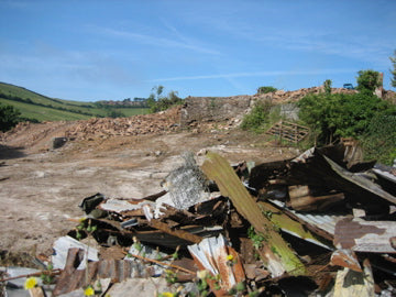 cleared building site