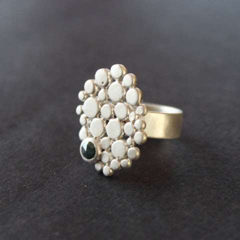 Silver ring by Cornwall jeweller Carin Lindberg