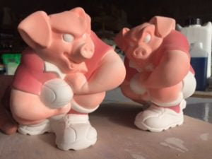 Rugby pigs ready for second firing
