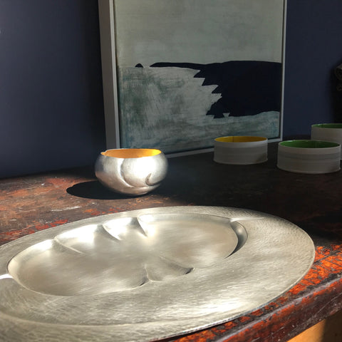 silver by Abigail Brown at the Byre Gallery, Cornwall