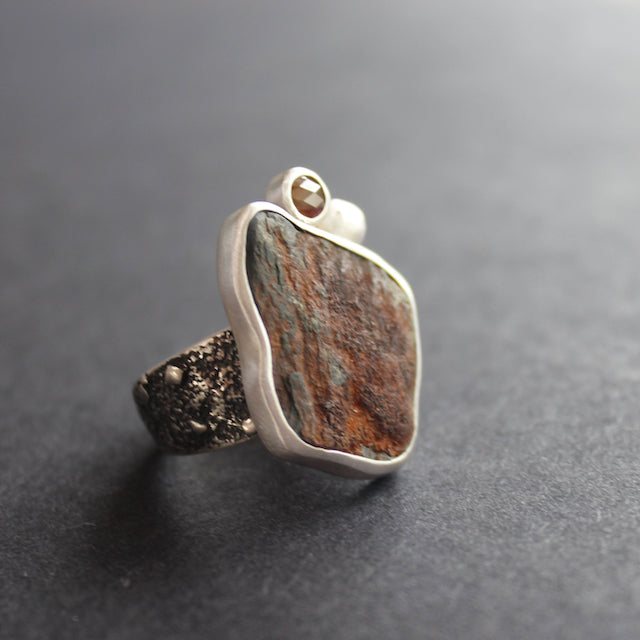 The Byre Gallery - Carin Lindberg - Beach rock and diamond ring