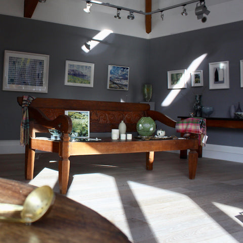 Winter exhibition at the Byre Gallery including work from David Muddyman, Cornwall artists Jill Hudson and Sophie Harding and glass artist Benjamin Lintell