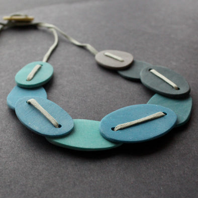 The Byre Gallery - Clare Lloyd - Scratched Pebble necklace