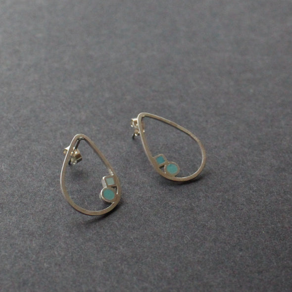The Byre Gallery-Clare Lloyd- silver earrings