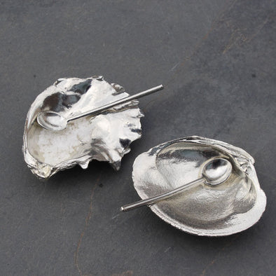 Pewter Sky - oyster and clam salt and pepper set