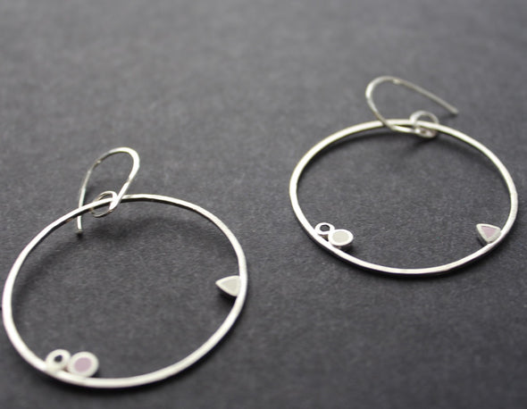 Clare Lloyd - Large dangle hoop earrings