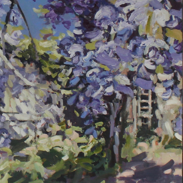 Jill Hudson - Wisteria and the Lilac Tree