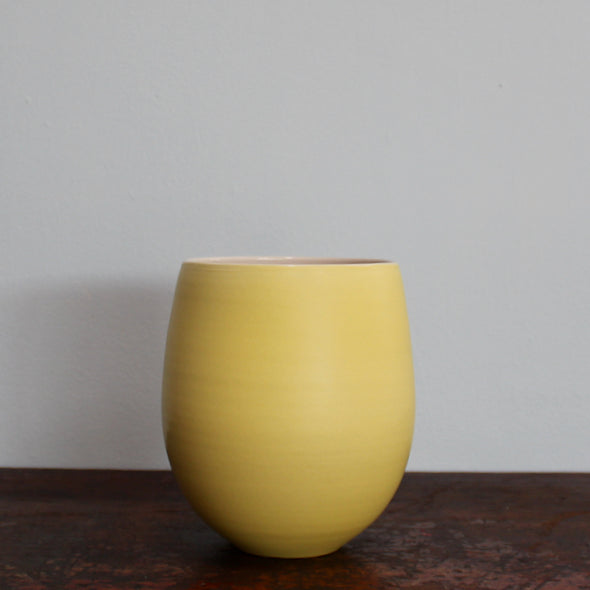 Lucy Burley - warm yellow 'tulip' vase