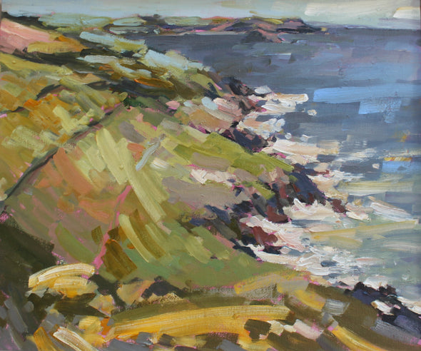 Jill Hudson landscape of Penlee point on the Rame Peninsula in south east Cornwall