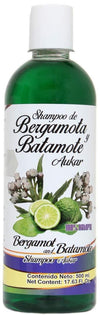 Shampoo de Bergamota y Batamote Aukar y Llavero, 500 ml / 17.63 Fl Oz. Shampoo of Bergamot and Batamote Aukar and Key Chain, Hair Wroth, Strong Hair with more Shine