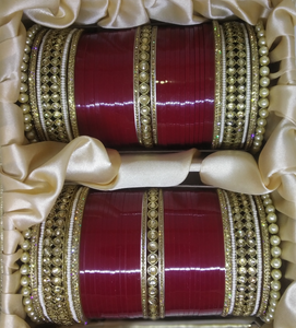 BL Premium Kundan Chura With Pearl Bangles