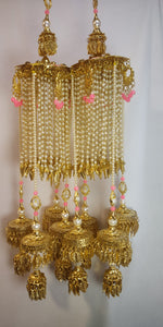Load image into Gallery viewer, Pink Meena Kalira with pearls