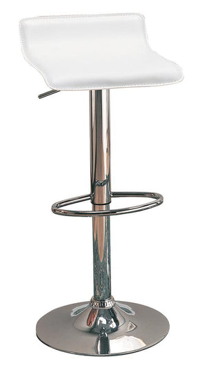 G120391 Contemporary White Adjustable Bar Stool image