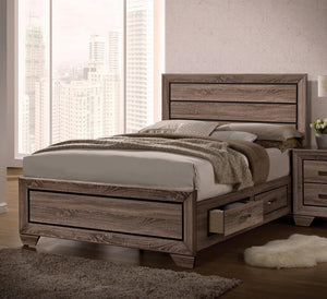 G204193 Kauffman Transitional Washed Taupe Queen Bed image