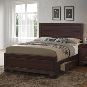 G204393 Fenbrook Transitional Dark Cocoa California King Bed image