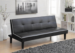 G550044 Contemporary Black Faux Leather Sofa Bed image