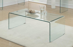 G705328 Contemporary Clear Coffee Table image