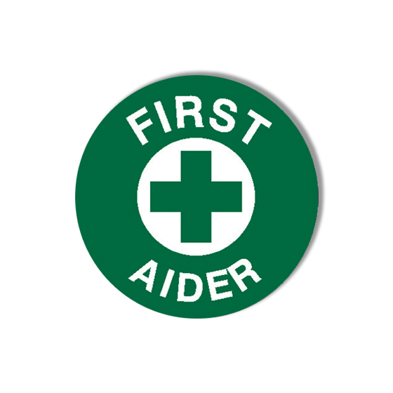 AeroSupplies First Aider Labels (Self-Stick Vinyl)