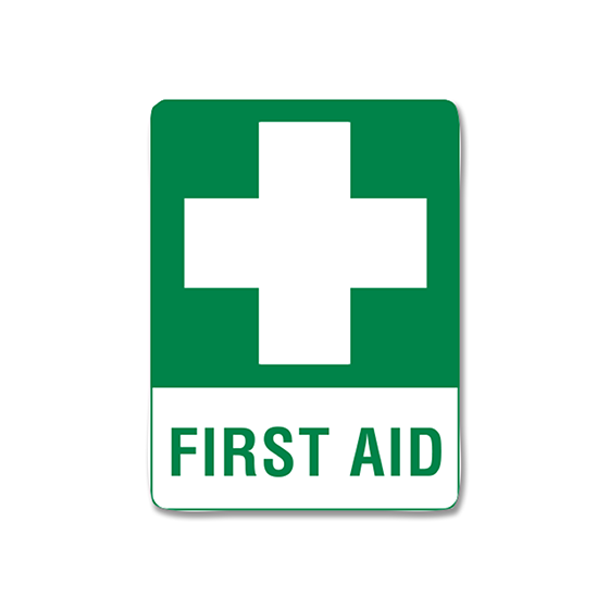 AeroSupplies First Aid Signs (Small Metal) - Units of 1