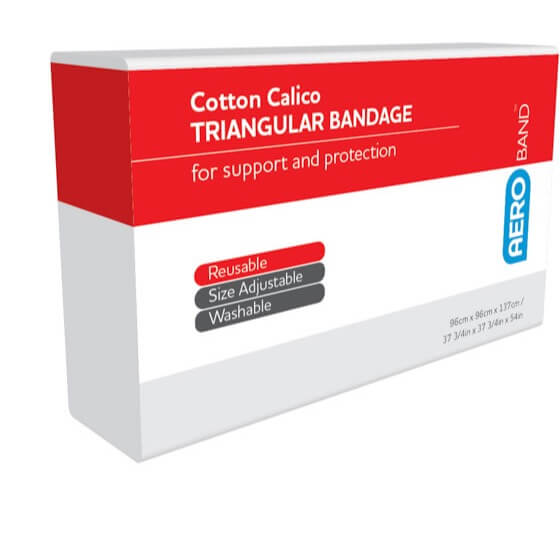 AeroBand Calico Triangular Bandages 96cm x 96cm x 136cm - Units of 1