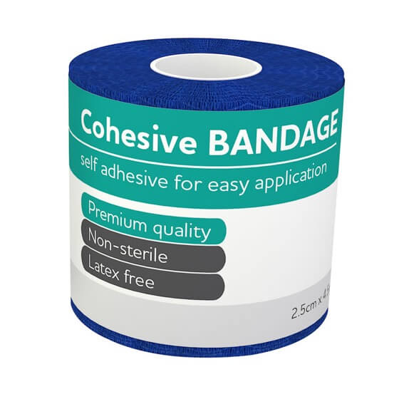 AeroBan Cohesive Bandages 2.5cm x 4.5m - Units of 1