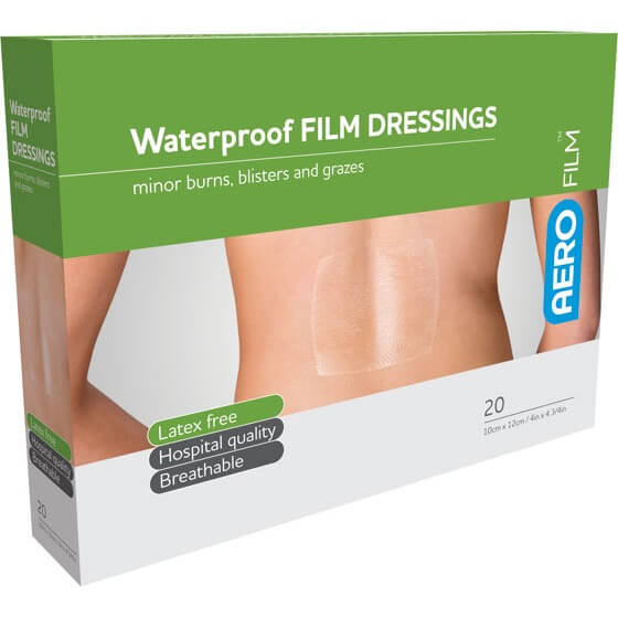 AeroFilm Waterproof Film Dressings 10cm x 12cm 20pk