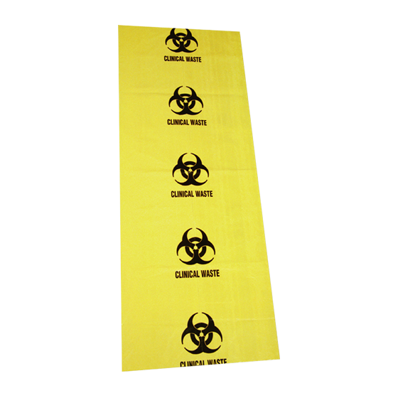 Biohazard Clinical Waste Bags 120L 490mmx470mm