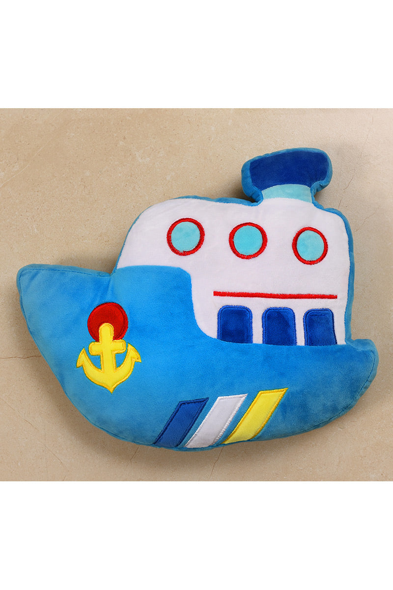 AB3356 STUFF TOY-SHIP BLUE