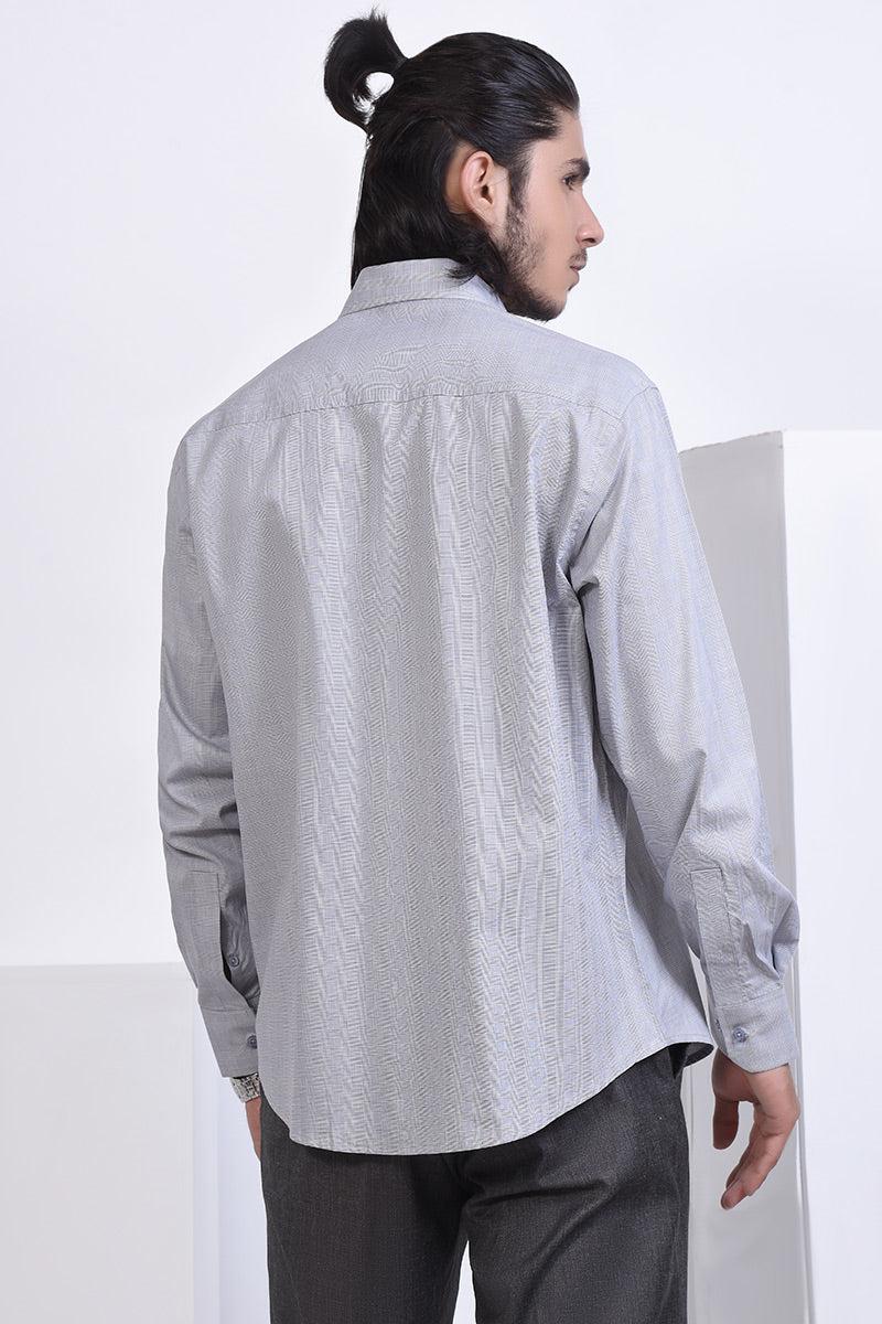 FORMAL SHIRT CHK GREY