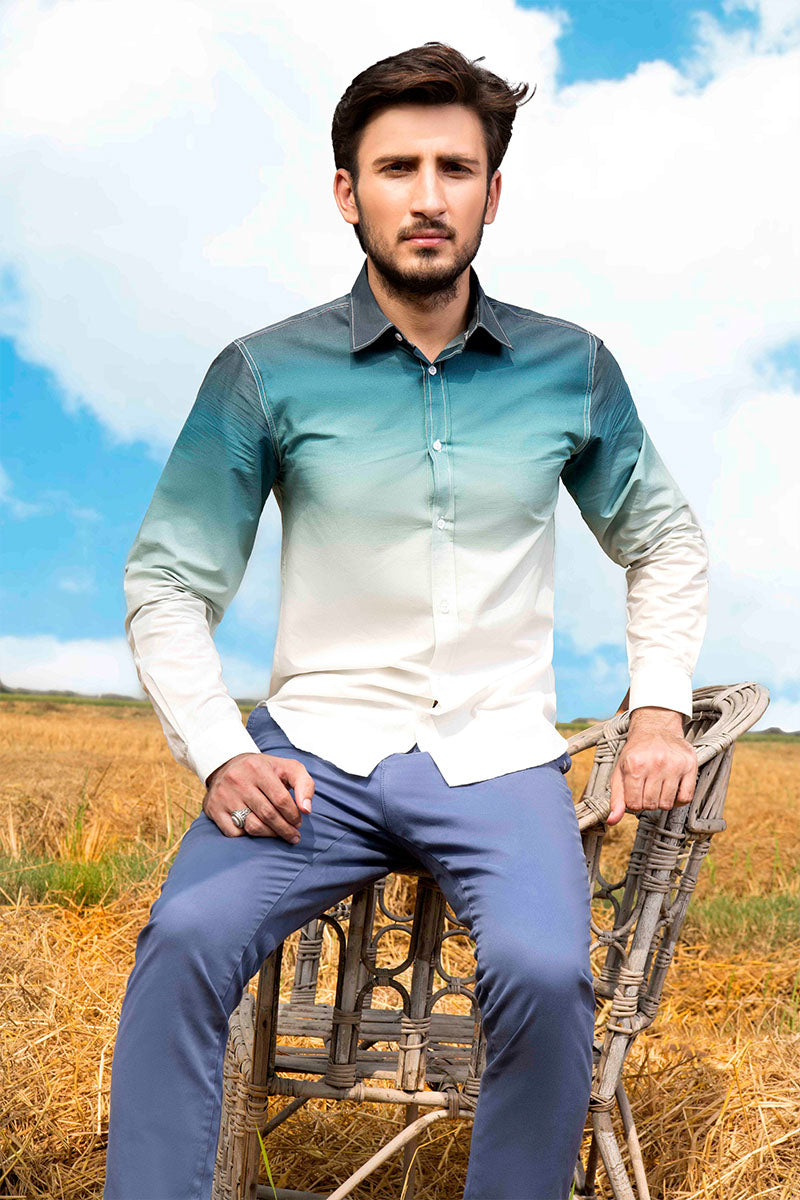 GTS-4263 FASHION SHIRT TEAL