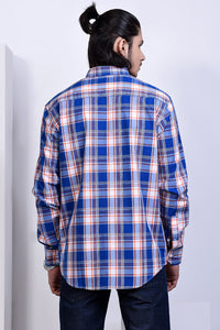 SEMI FORMAL SHIRT BLUE/WHITE CHK