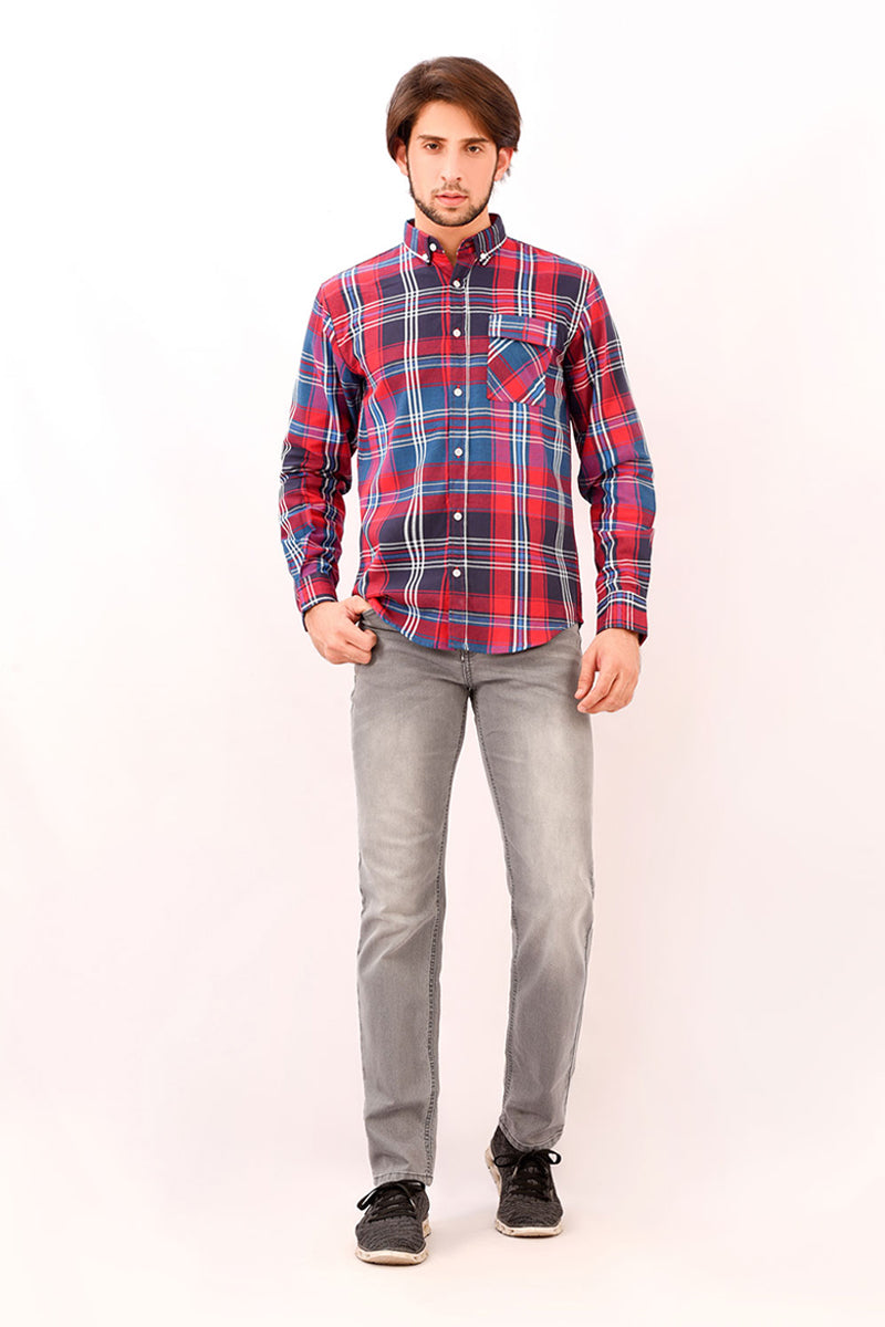 Fashion Shirt In Chk Black/Red