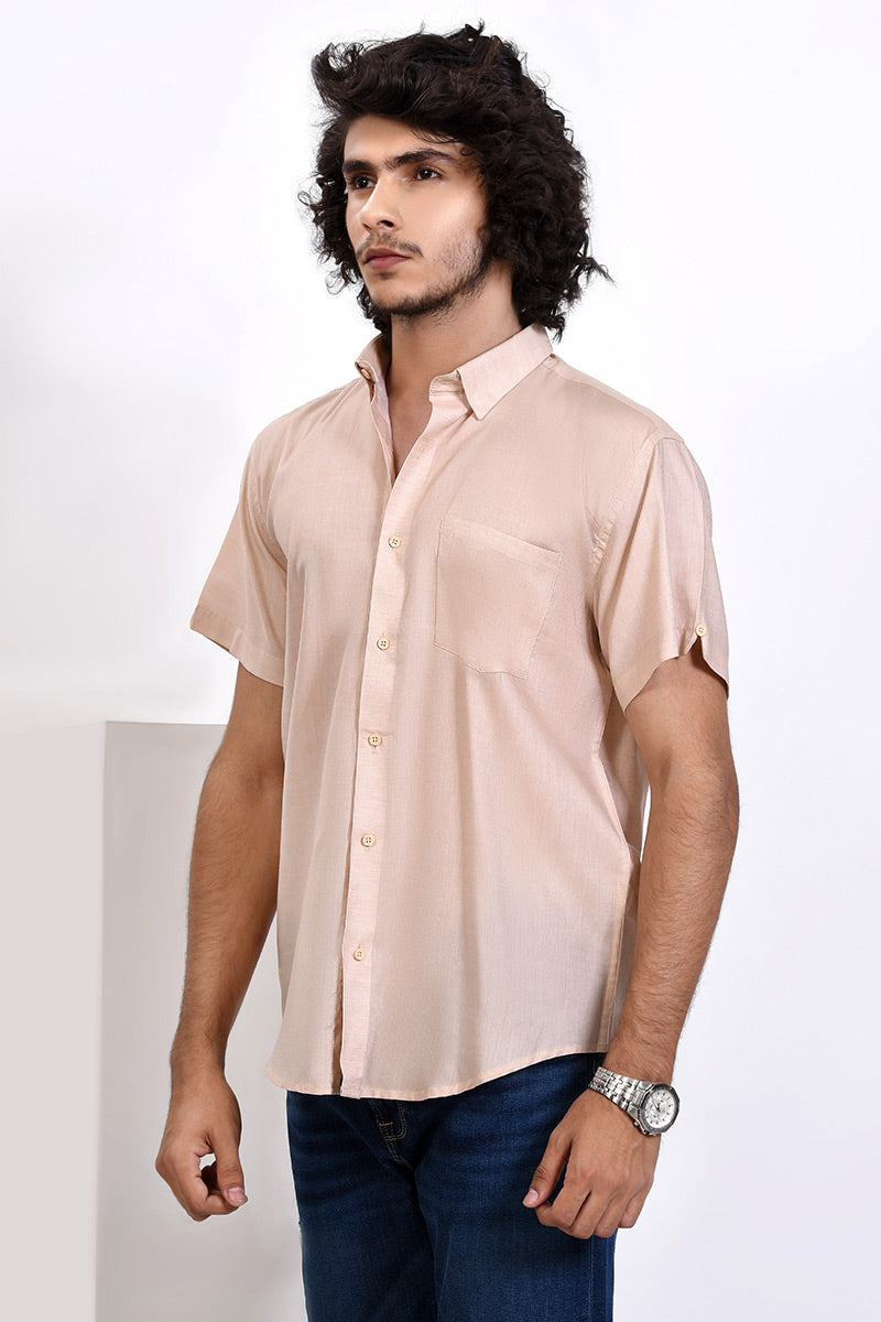 GTS-5995 FASHION SHIRT L/BEIGE