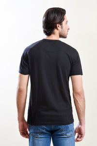 T-Shirt R/N H/Slv Black