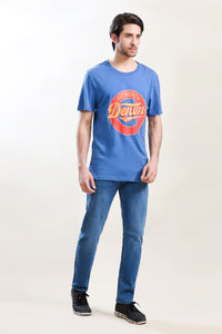 T-Shirt R/N H/Slv Blue