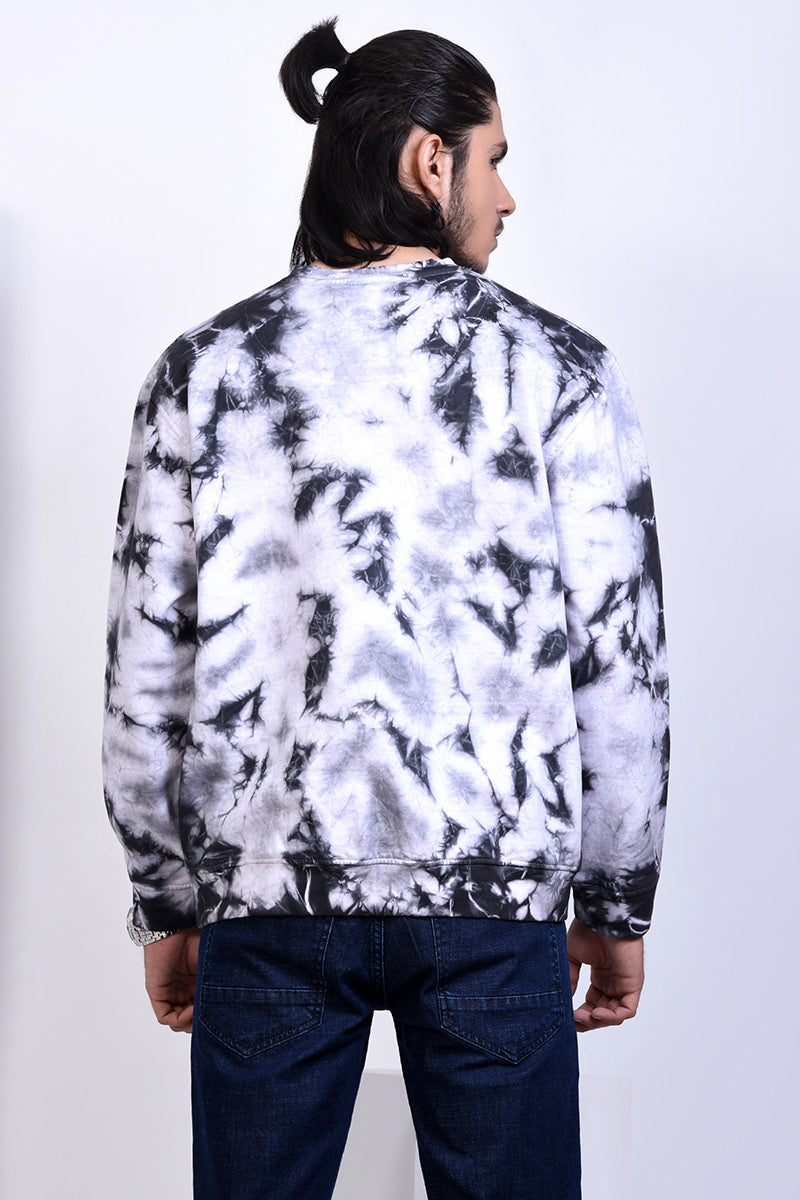 GTS-B3312 SWEAT SHIRT BLACK TIE DIE