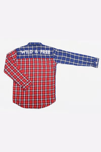 Fashion Shirt In Chk Blue/Red