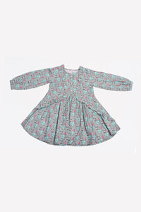 Pareesa Girls Shirt W/Ptd Grey