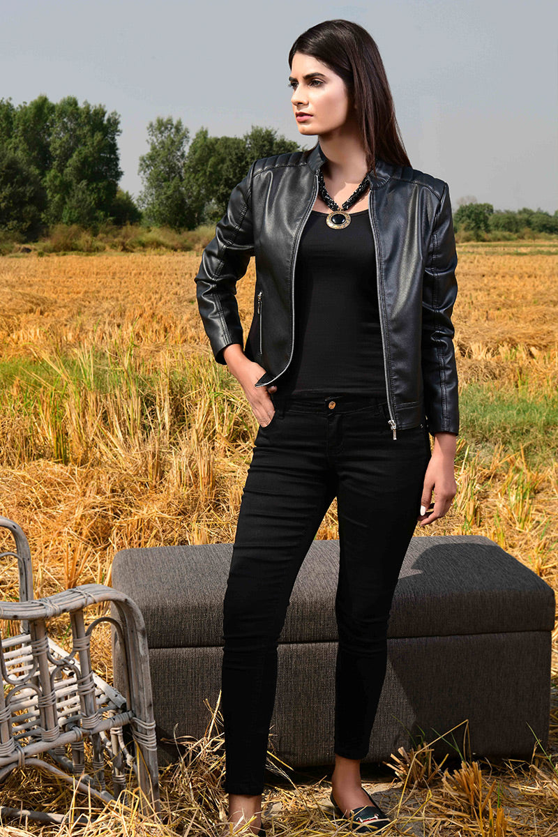 Pu Jacket Black